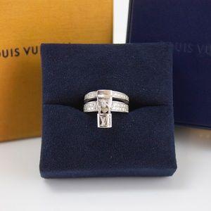 LIMITED EDITION Louis Vuitton Lockit Ring Diamond